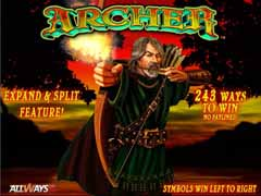 Machine a sous $$ Archer (Playtech) $$